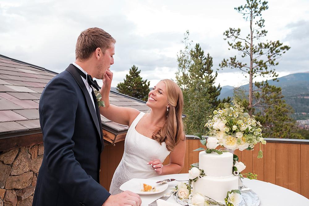 Breckenridge Wedding Planner - Cake Cutting - Chateau of Breckenridge Wedding