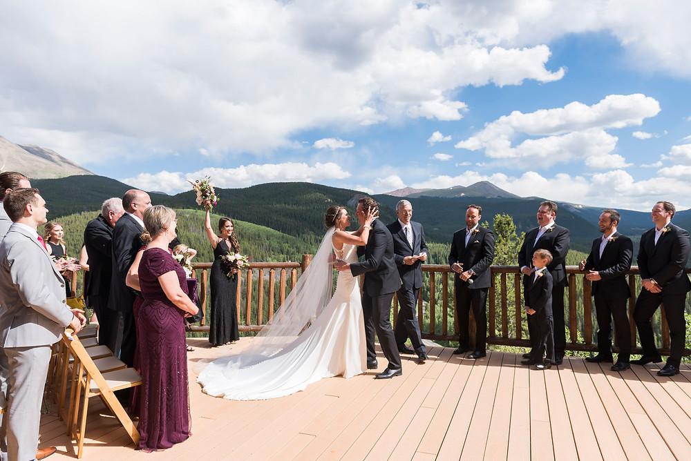 Breckenridge Wedding Planner - The Lodge at Breckenridge Wedding - First Kiss