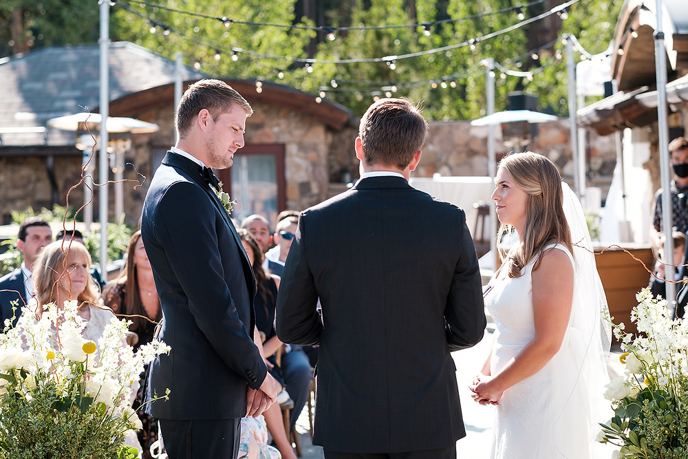 Breckenridge Wedding - Chateau of Breckenridge Wedding - Bride and Groom
