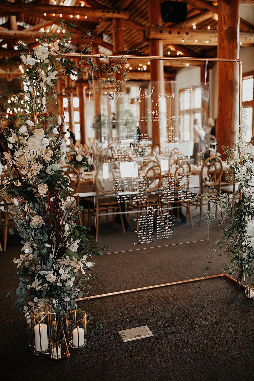 Keystone Wedding Planner - Timber Ridge Wedding - Seating Chart