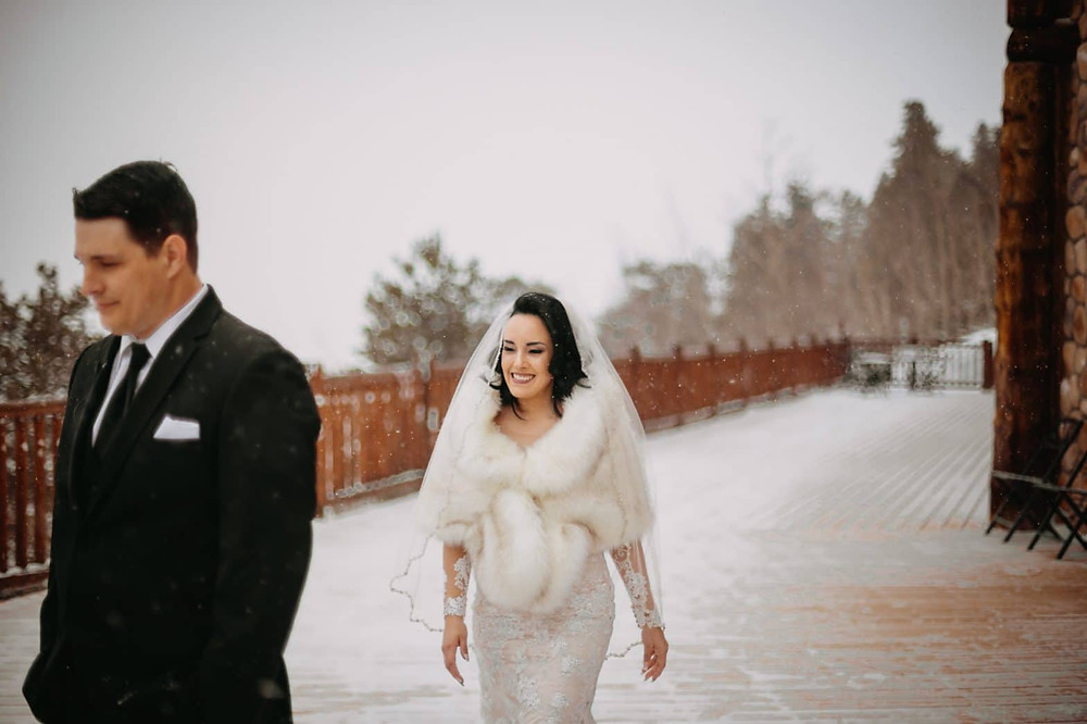 Breckenridge Wedding - Breckenridge Winter Wedding - The Lodge at Breckenridge Wedding - First Look