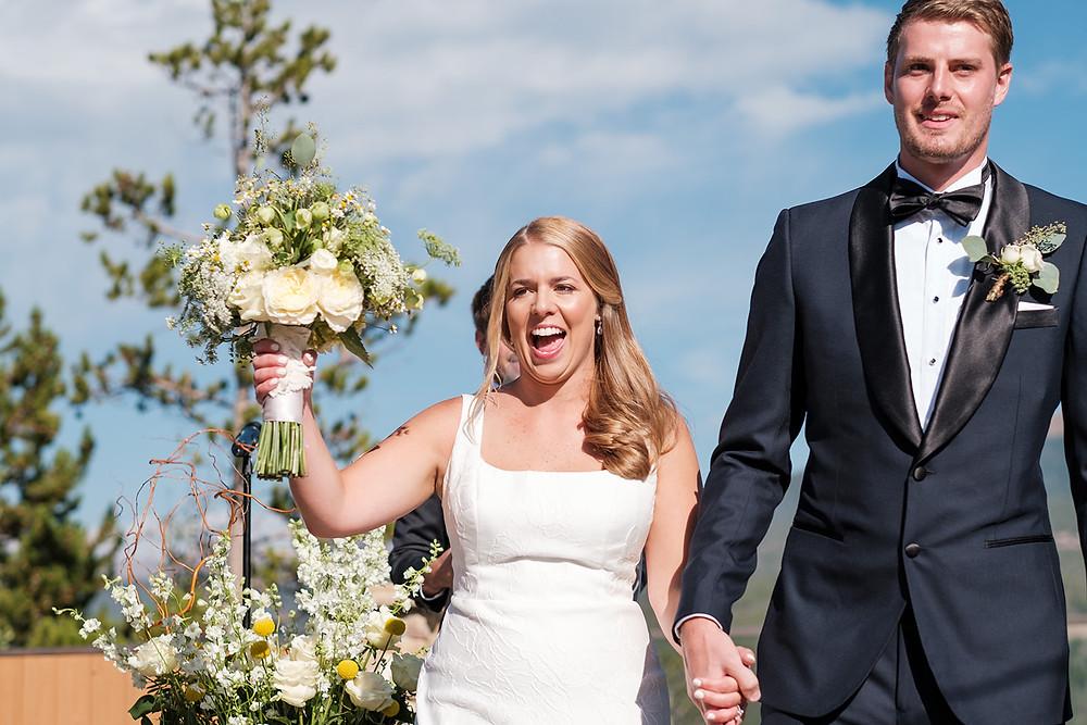 Breckenridge Wedding - Chateau of Breckenridge Wedding - Just Married