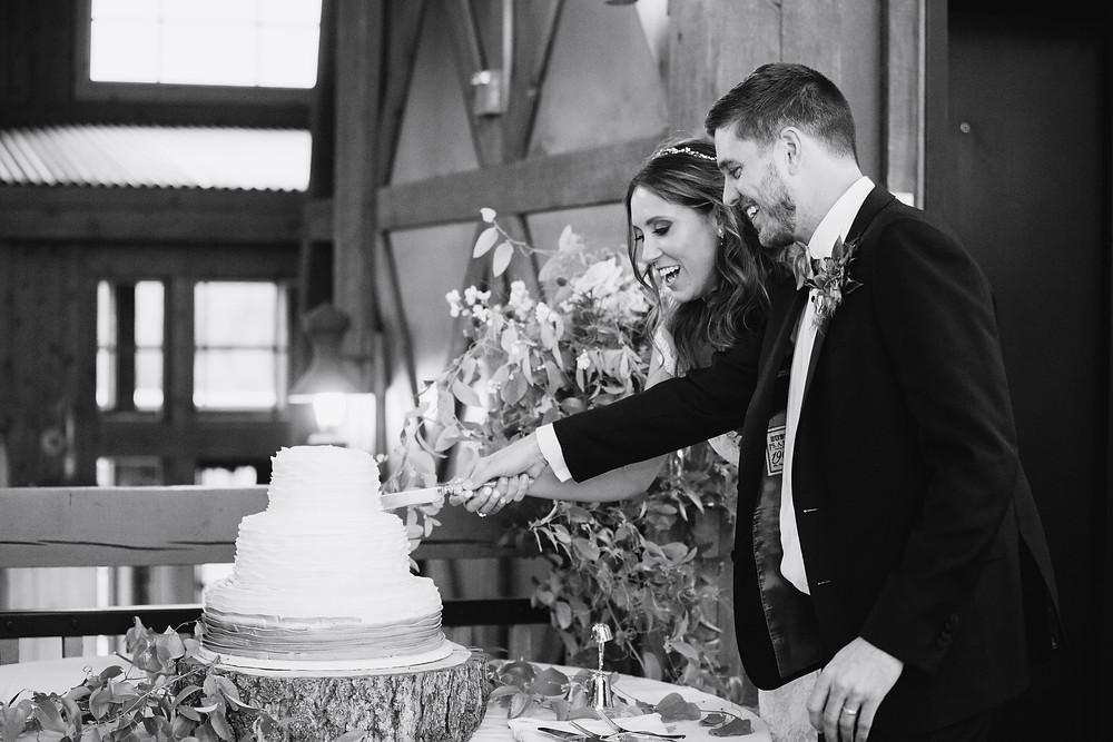 Breckenridge Wedding, Cake Cutting, Ten Mile Station Wedding