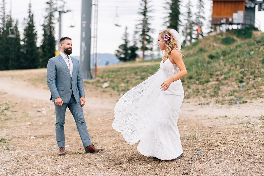 Keystone Wedding Planner - Timber Ridge Wedding - First Look
