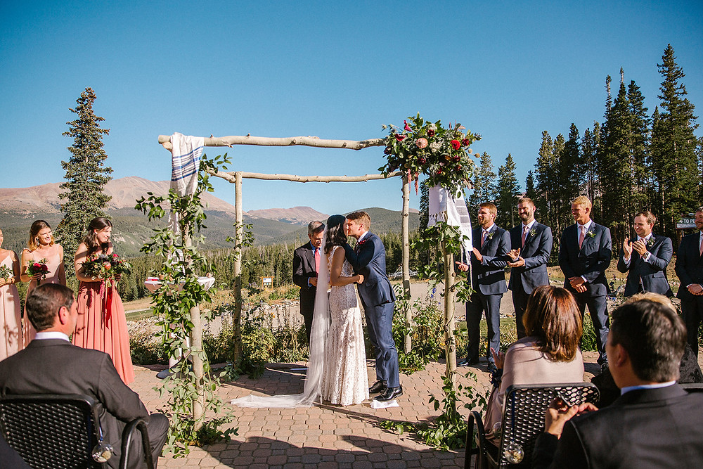Breckenridge Wedding Planner - Ten Mile Station Wedding - First Kiss