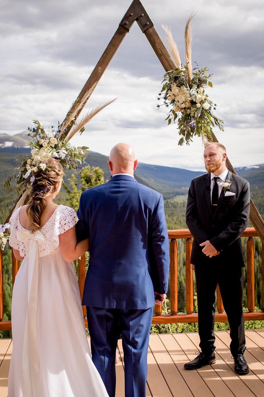 The Lodge at Breckenridge Wedding - Colorado Wedding - Father giving Daughter away