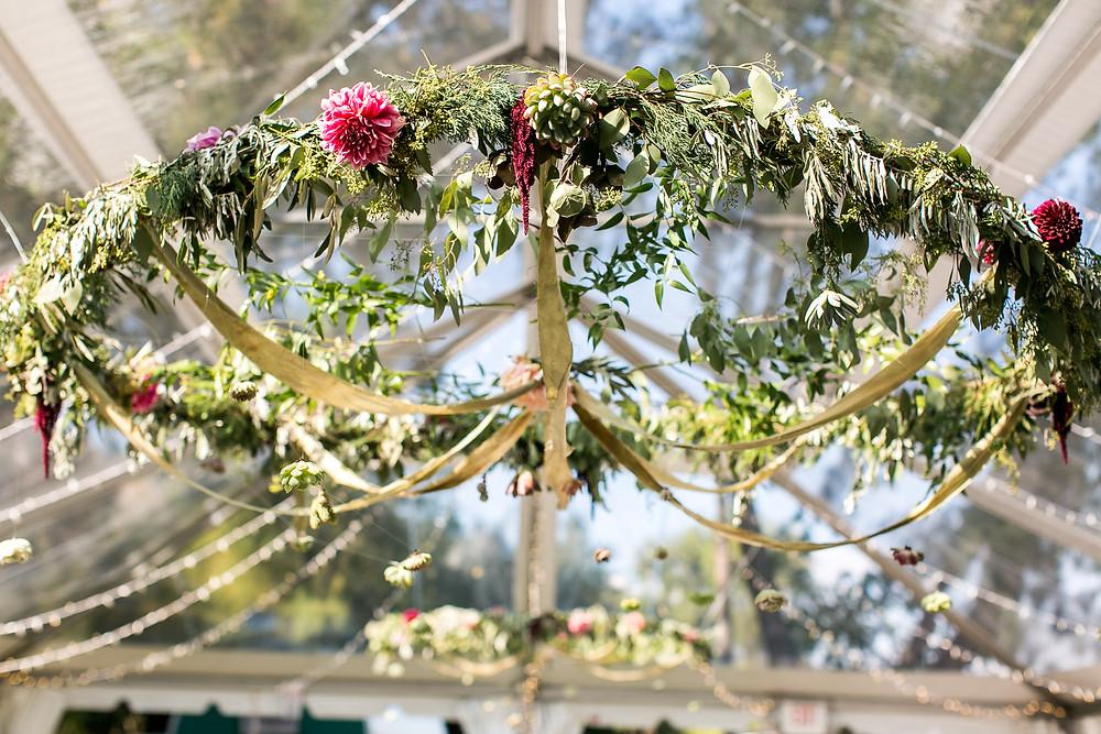 Colorado Wedding Planner - Colorado Wedding Floral Hanging Installation