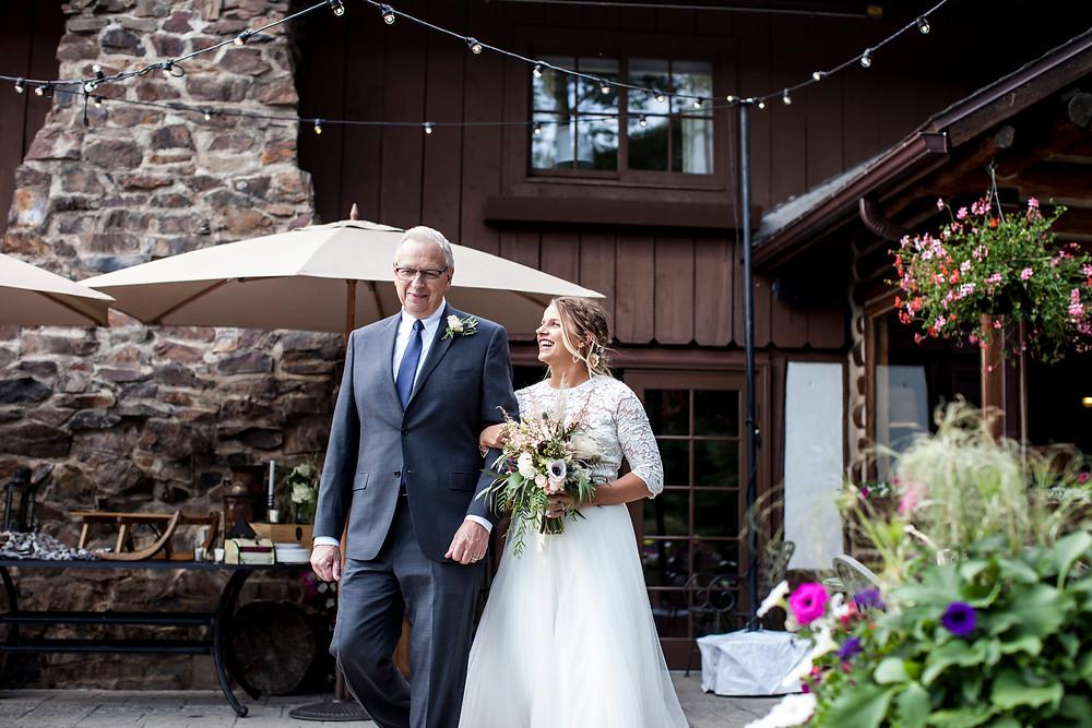 Keystone Wedding, Father Daughter, Ski Tip Lodge Wedding