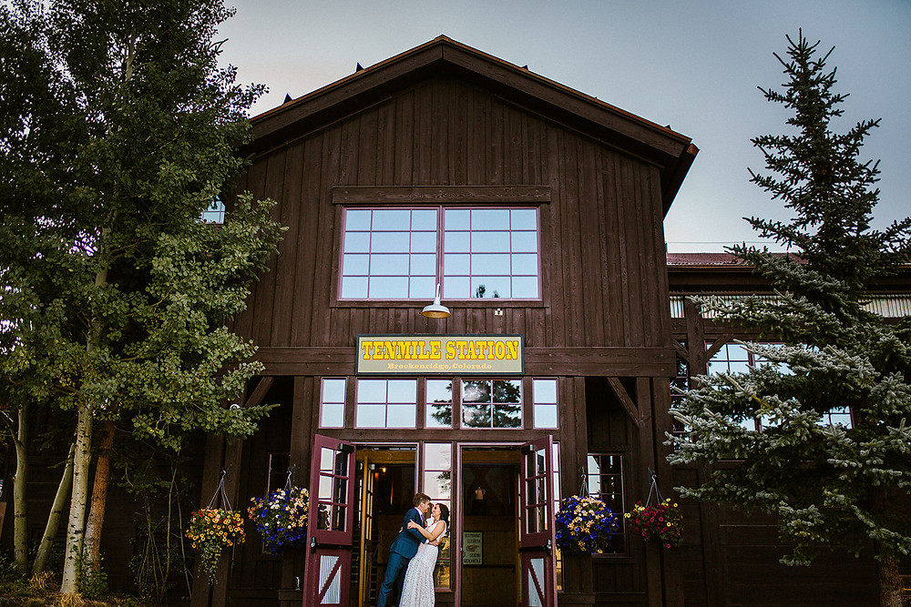 Breckenridge Wedding Planner - Ten Mile Station Wedding - Bride adn Groom