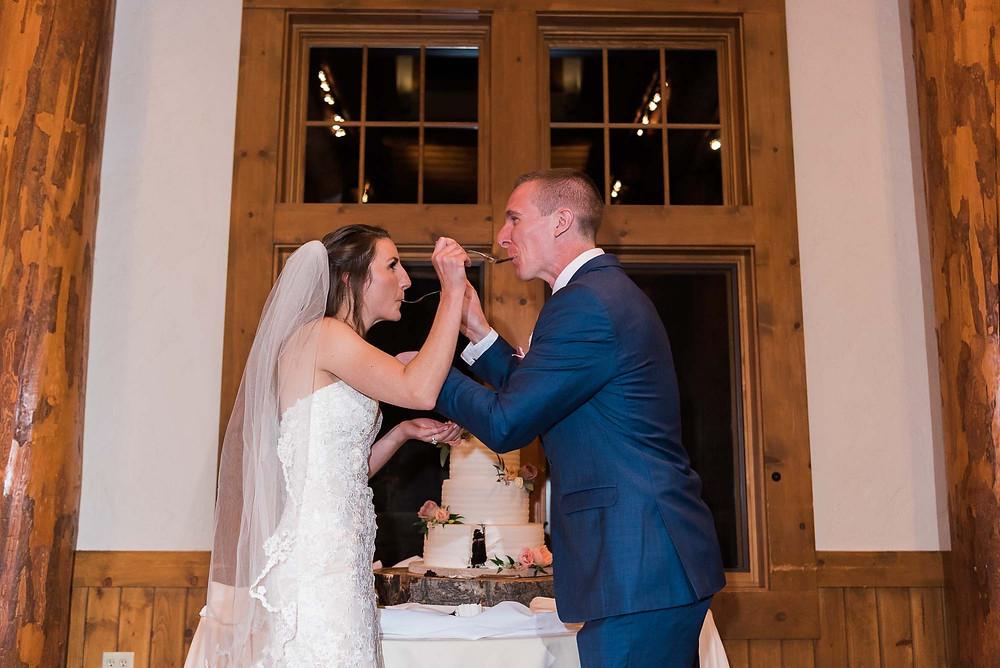 Keystone Wedding - Timber Ridge Wedding - Cake Cutting