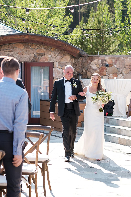 Breckenridge Wedding - Chateau of Breckenridge Wedding - Bride and her Father