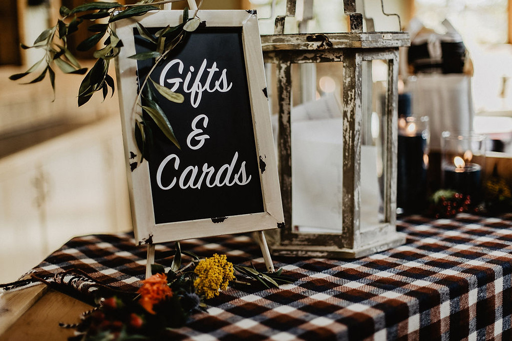 Ten Mile Station Wedding - Breckenride Wedding - Gift Table