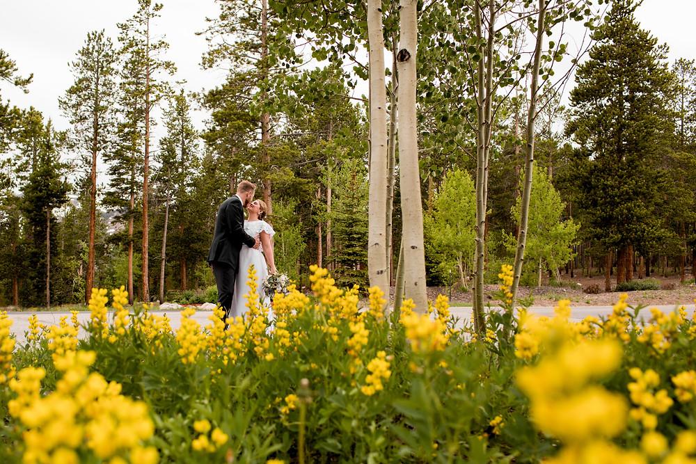 The Lodge at Breckenridge Wedding - Bride and Groom - Colorado Wedding