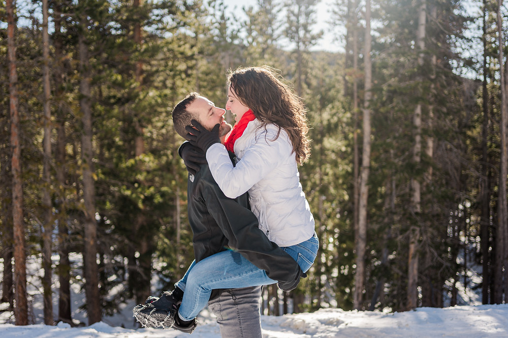 Silverthorne Wedding Couple - Engagement Shoot - Bride and Groom