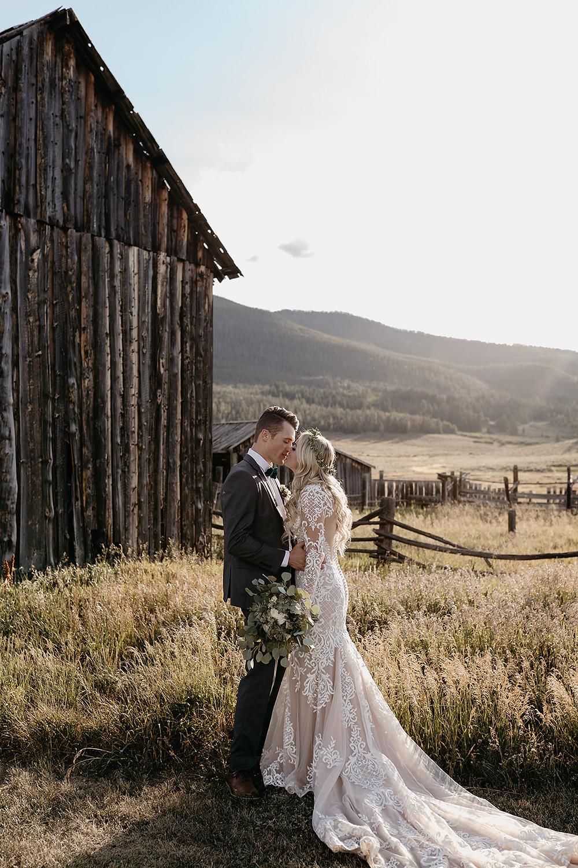 Keystone Wedding - Keystone Ranch Wedding - Bride and Groom