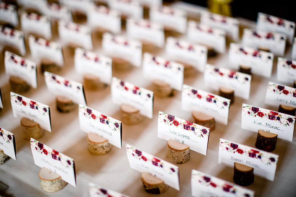 Copper Mountain Wedding Planner - Escort Cards