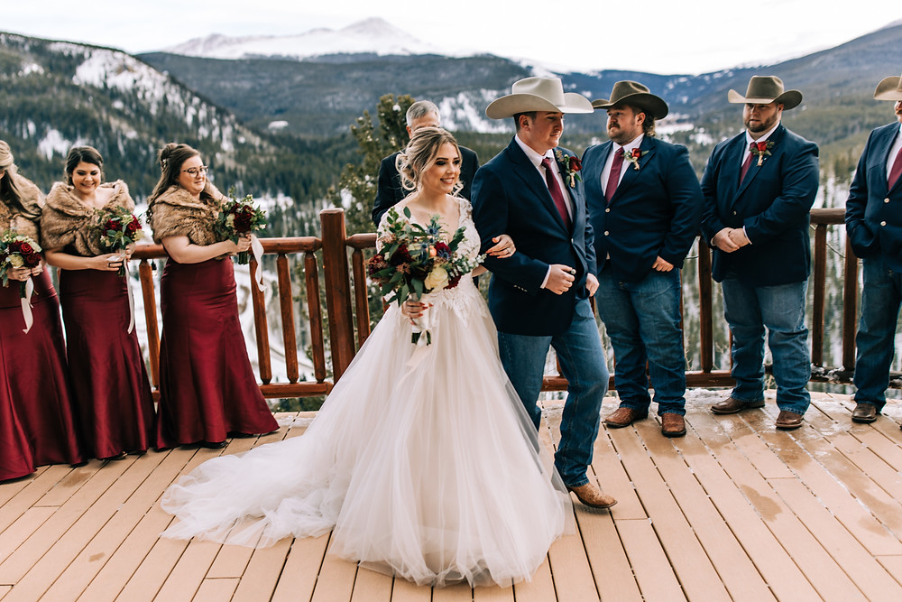 The Lodge at Breckenridge Wedding - Just Married - Bride and Groom