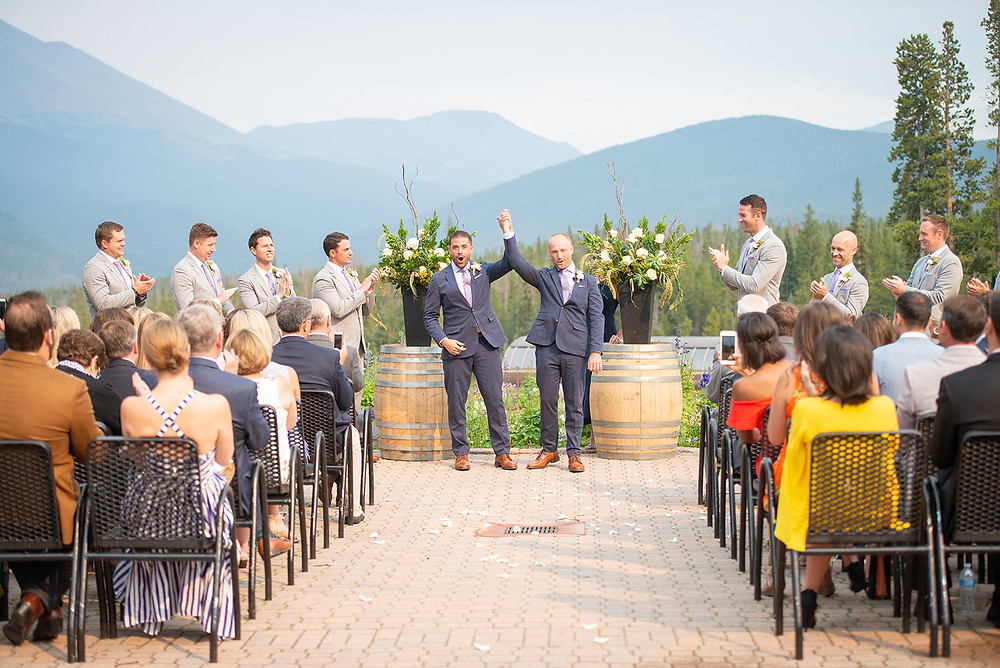 Breckenridge Wedding Planner - Ten Mile Station Wedding - Same Sex Wedding - Just Married