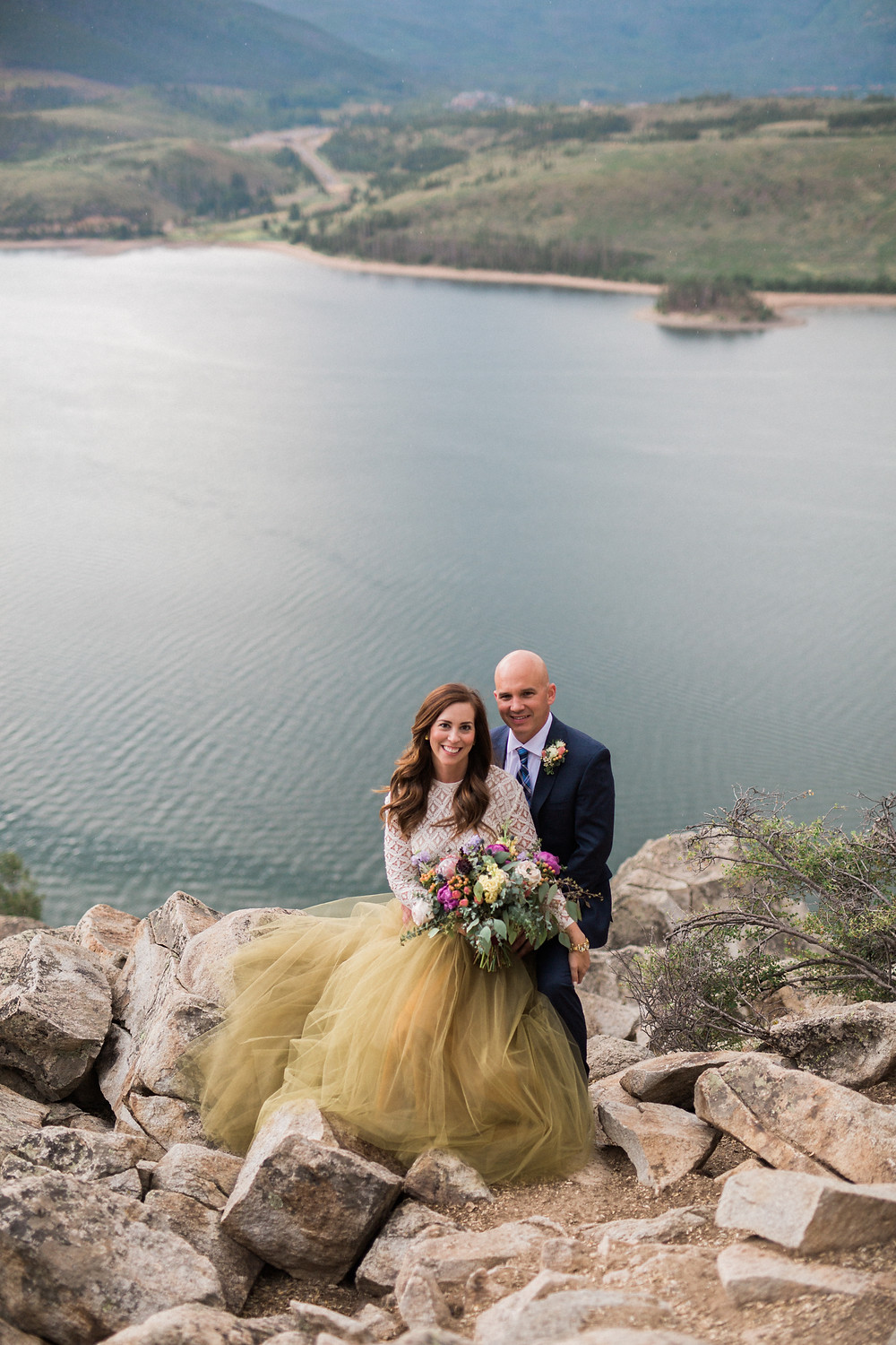 Breckenridge Wedding Planner - Sapphire Point Wedding - Bride and Groom