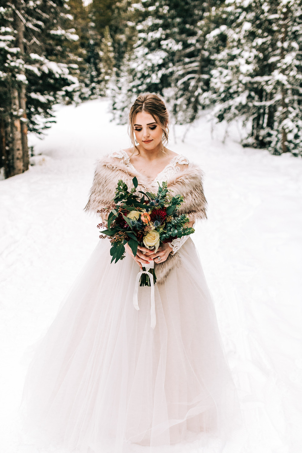 Breckenridge Winter Wedding - The Lodge at Breckenridge Wedding - Bride