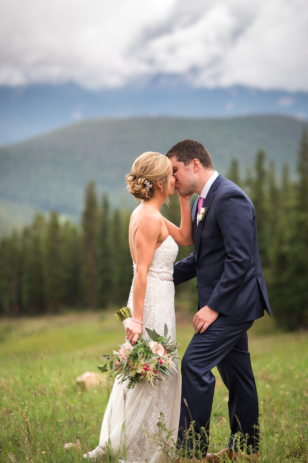 Colorado Wedding Couple - Colorado Wedding Couple First Look