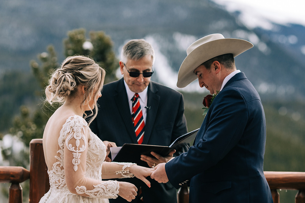 The Lodge at Breckenridge Wedding - Wedding Ceremony - Bride and Groom
