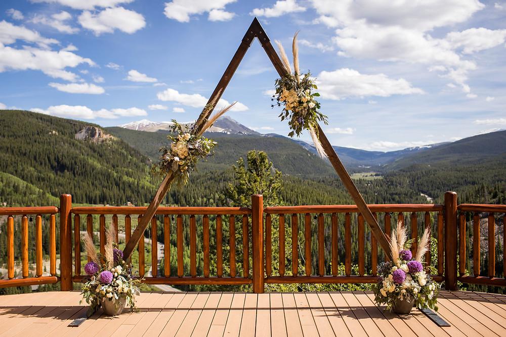The Lodge at Breckenridge Wedding - Ceremony Arch
