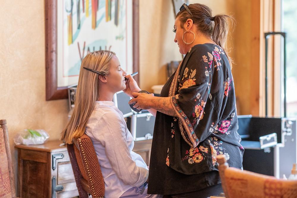 Keystone Wedding Planner - Keystone Ranch Wedding - Hair and Makeup