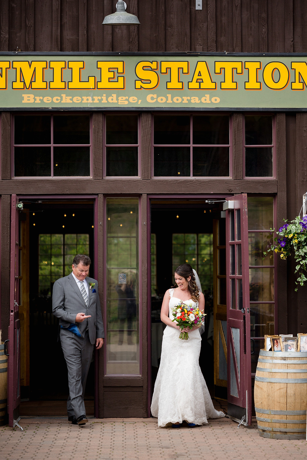 Breckenridge Wedding - Ten Mile Station Wedding - Father Daughter