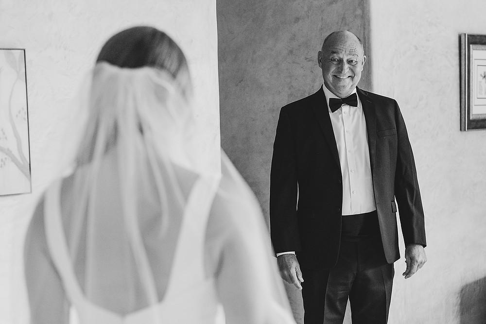 Breckenridge Wedding - Father Daughter First Look