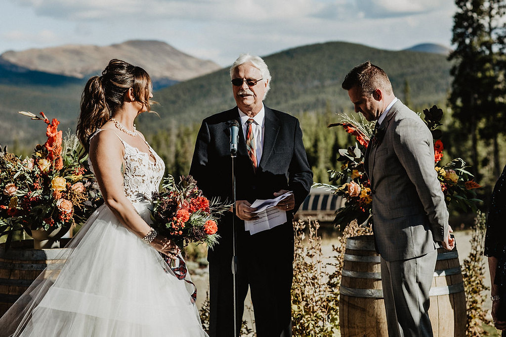 Ten Mile Station Wedding - Breckenride Wedding - Wedding Ceremony