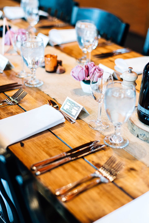 Keystone Wedding Planner - Timber Ridge Wedding - Table Scape