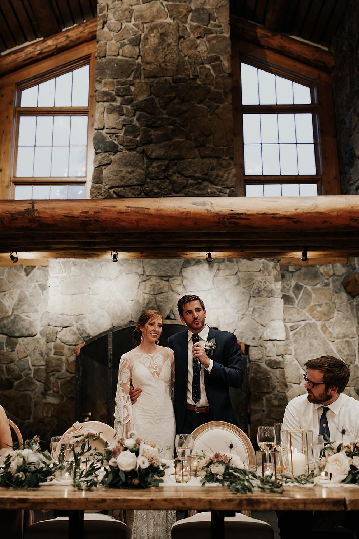 Keystone Wedding Planner - Timber Ridge Wedding - Thank you Toast