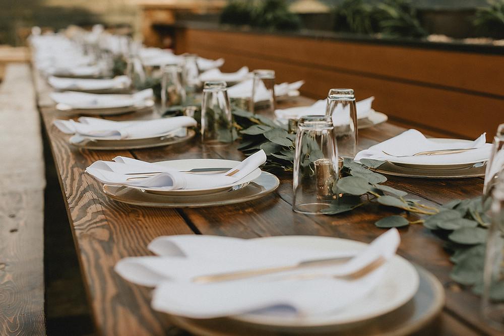 Chateau of Breckenridge - Breckenridge Wedding - Table Set up