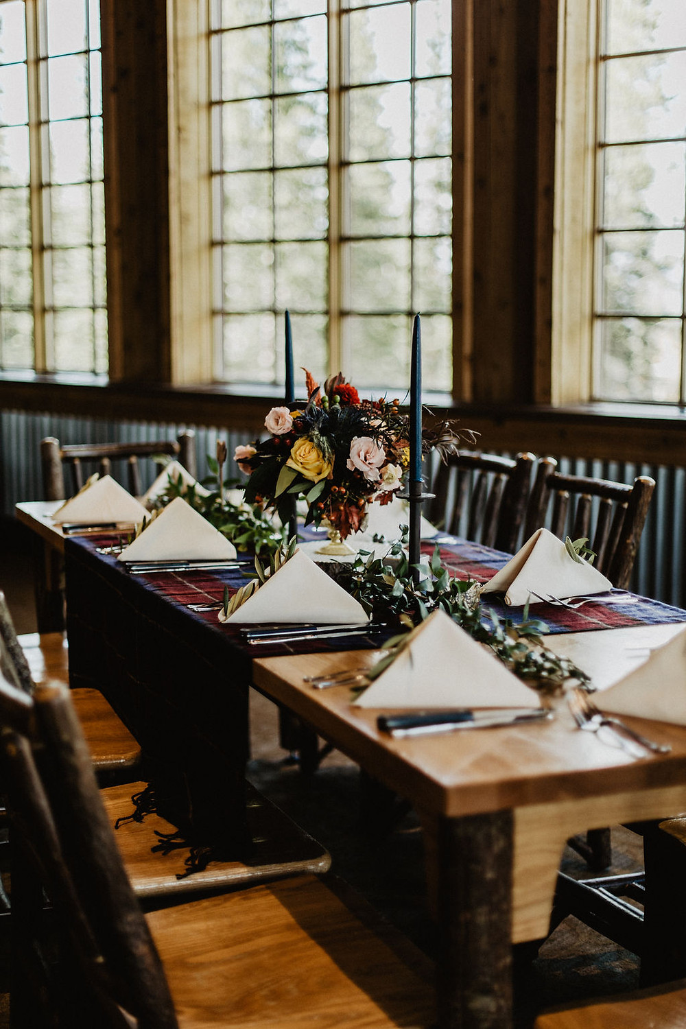 Ten Mile Station Wedding - Breckenride Wedding - Centerpiece