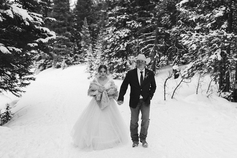 Breckenridge Winter Wedding - Bride and Groom