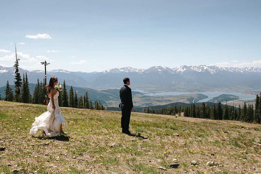 Colorado Wedding Planner - Colorado Couple First Look
