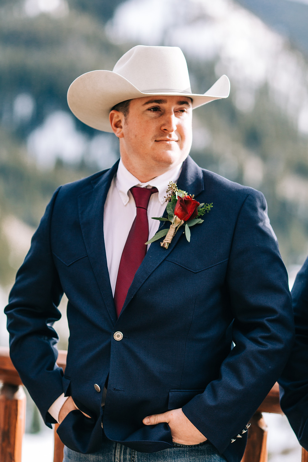 The Lodge at Breckenridge Wedding; Groom