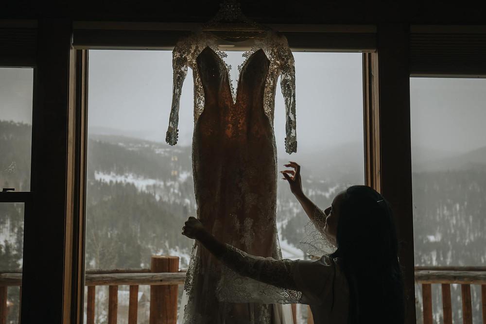 Breckenridge Wedding - Breckenridge Winter Wedding - The Lodge at Breckenridge Wedding - Wedding Dress