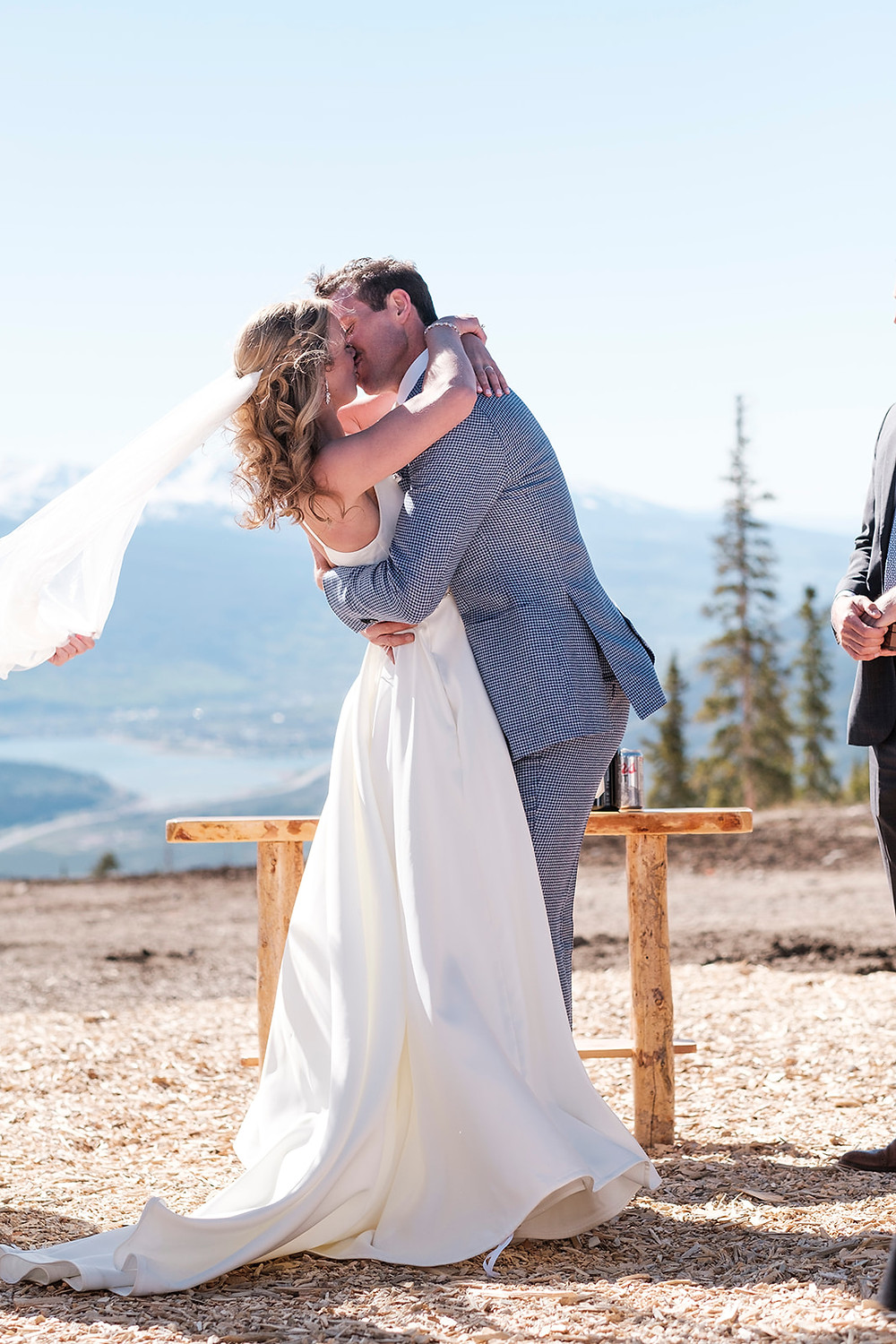 Keystone Wedding Planner - Timber Ridge Wedding - First Kiss