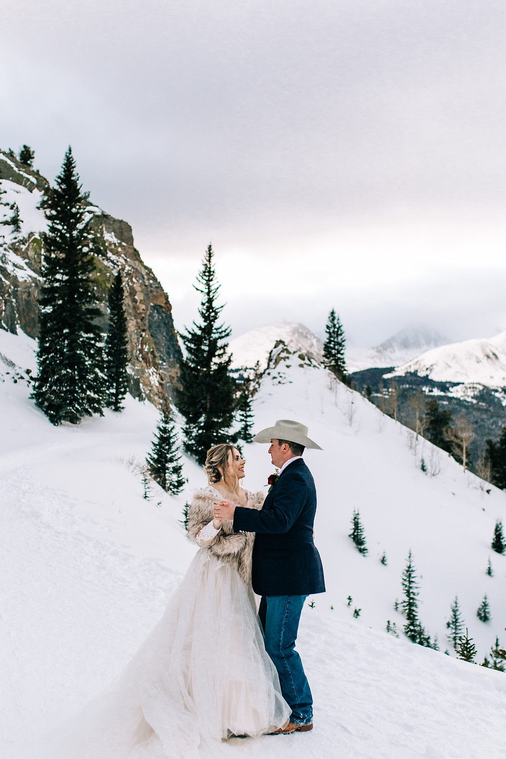 The Lodge at Breckenridge Wedding - Breckenridge Wedding - Bride and Groom