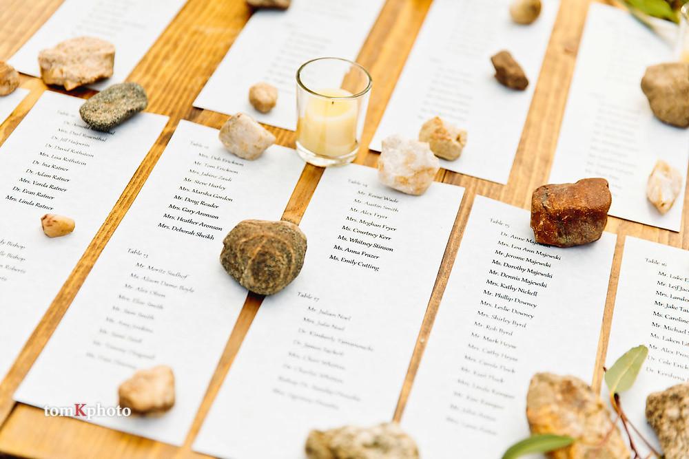 Breckenridge Wedding - Escort Cards