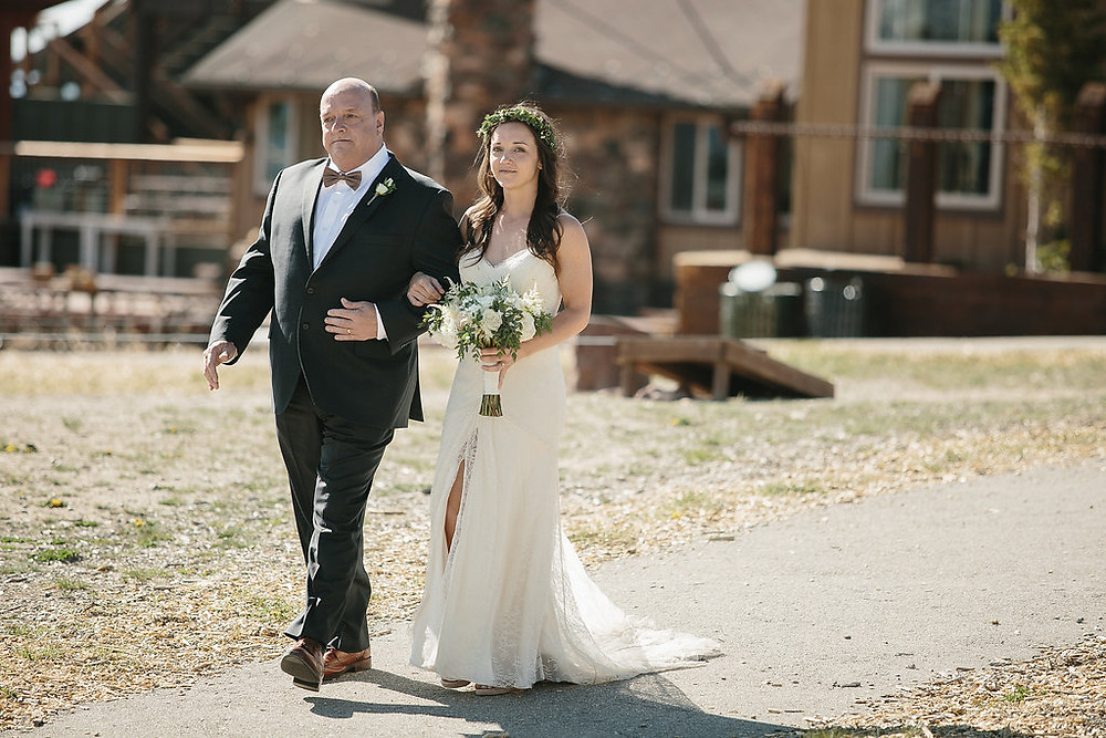 Colorado Wedding Planner - Father walking his daughter down the aisle