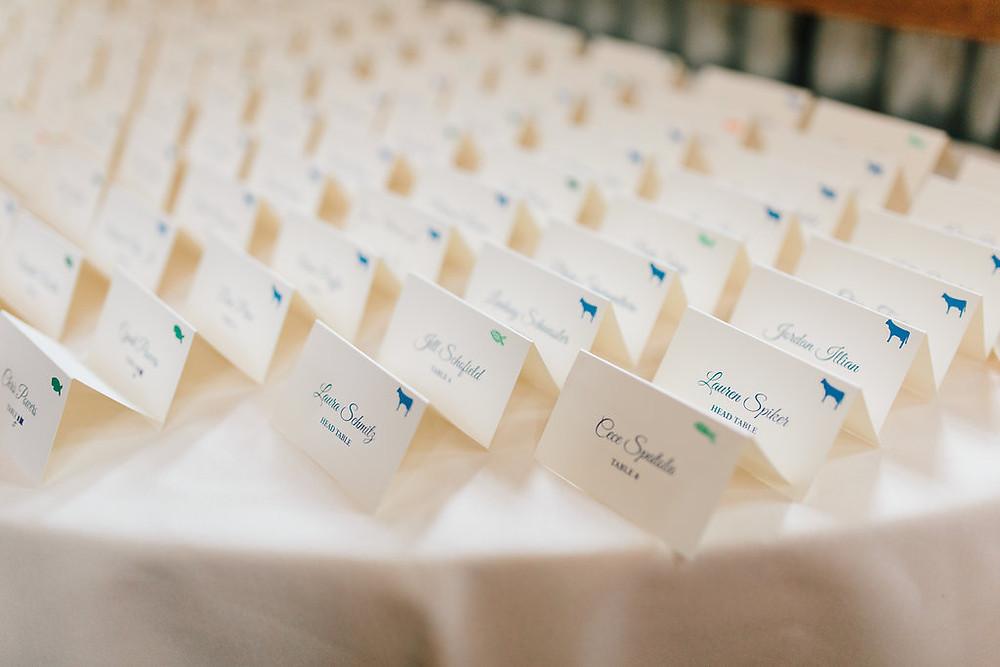 Breckenridge Wedding Planner - Ten Mile Station Wedding - Escort Cards