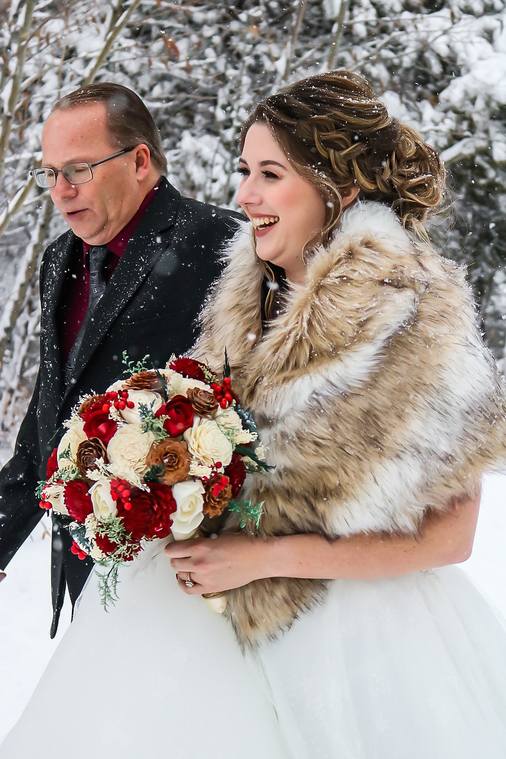 Silverthorne Wedding Planner - Colorado Winter Wedding - Father Daughter