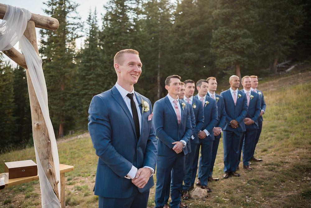 Keystone Wedding - Timber Ridge Wedding - Wedding Ceremony, Groom