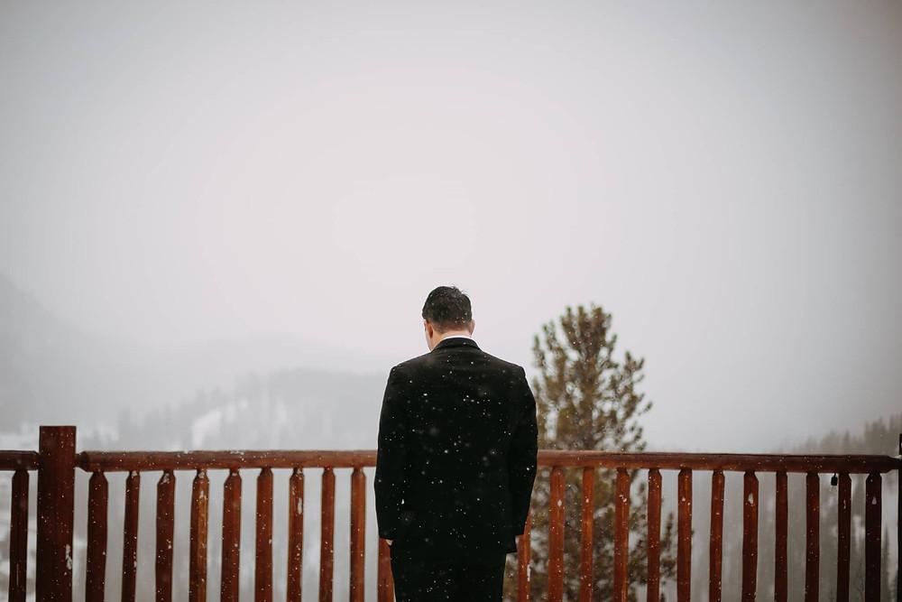 Breckenridge Wedding - Breckenridge Winter Wedding - The Lodge at Breckenridge Wedding - Groom