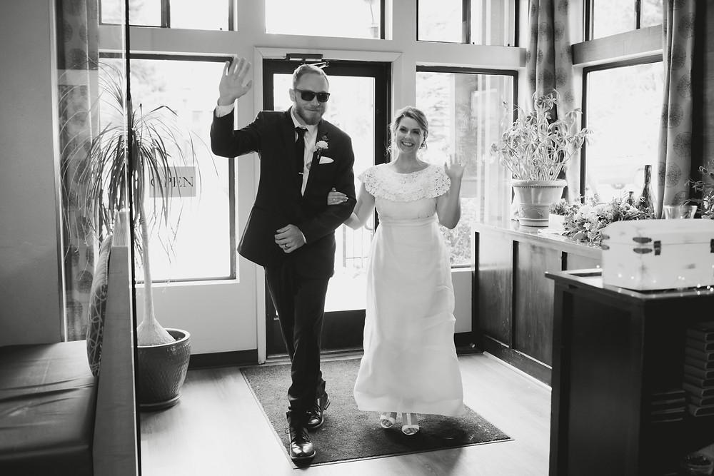 The Lodge at Breckenridge Wedding - Blue River Bistro Wedding Reception - Grand Entrance