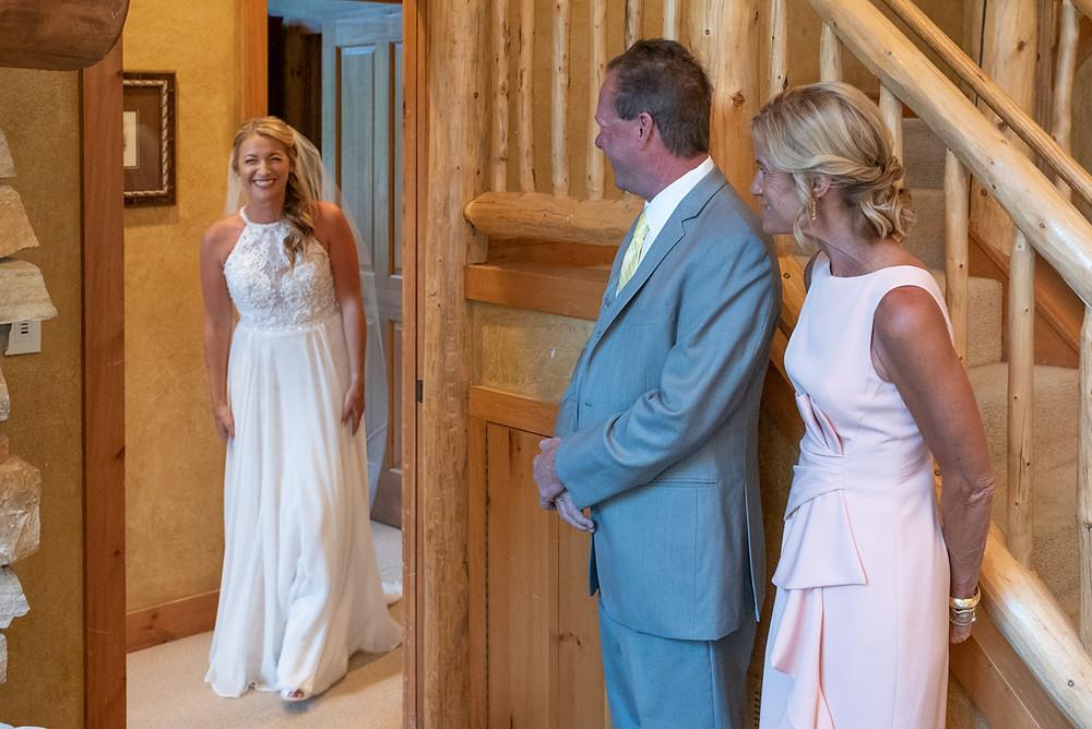 Keystone Wedding Planner - Keystone Ranch Wedding - Bride and Her father first look