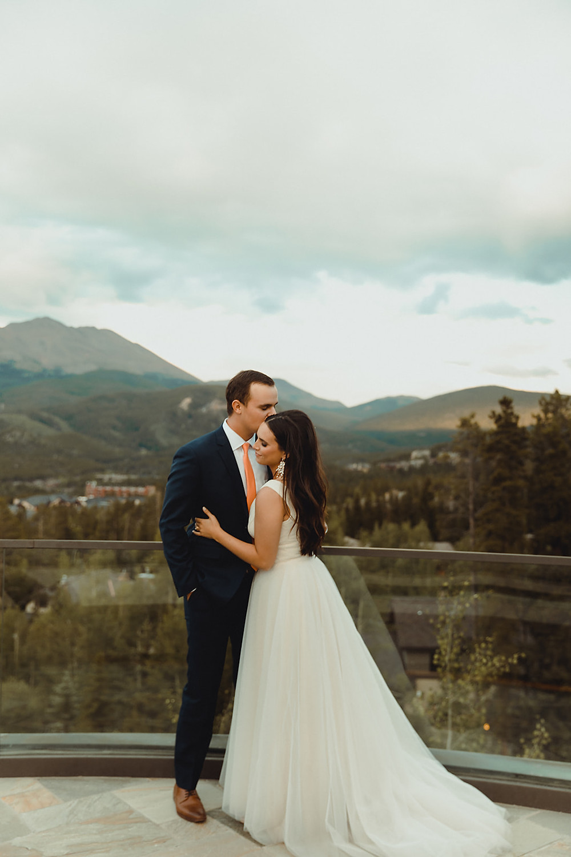 Chateau of Breckenridge Wedding - Breckenridge Wedding - Bride and Groom